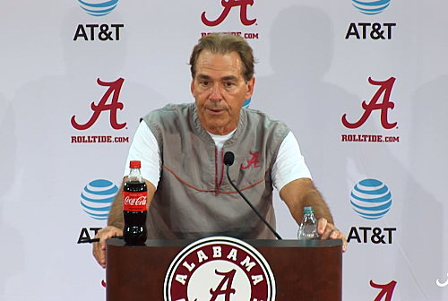 VIDEO: Nick Saban Talks Focus Heading Into First Road Game of 2017
